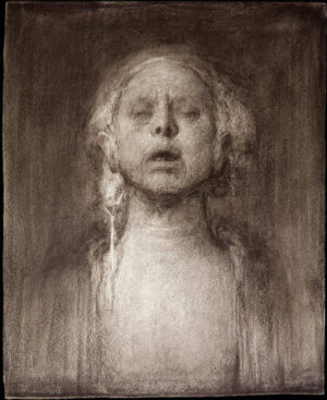 Odd Nerdrum, Self portrait with closed eyes